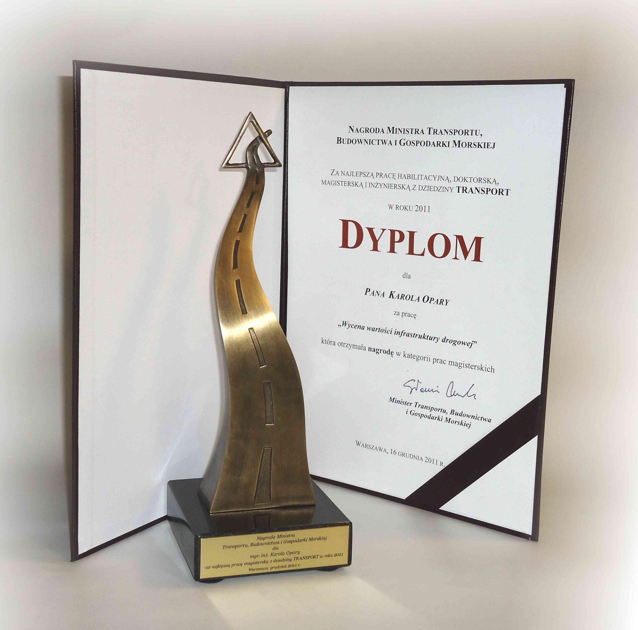 Nagroda Ministra Transportu dla Karola Opary
