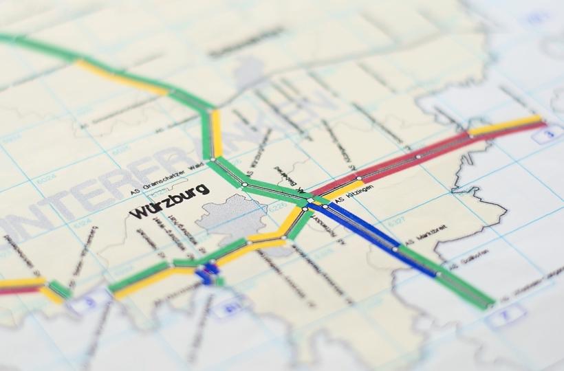 Jedna z pierwszych map stanu nawierzchni z początku lat dziewięćdziesiątych.