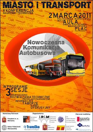 "Konferencja ""Miasto i Transport 2011"""