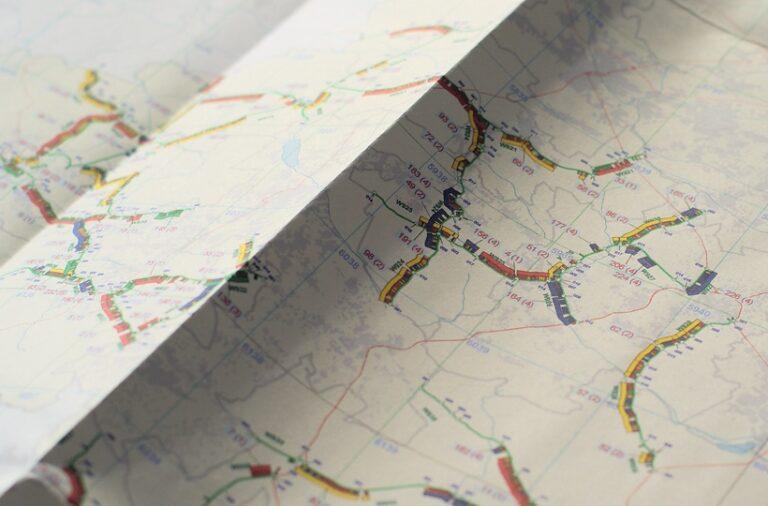 Mapa odcinków utrzymaniowych