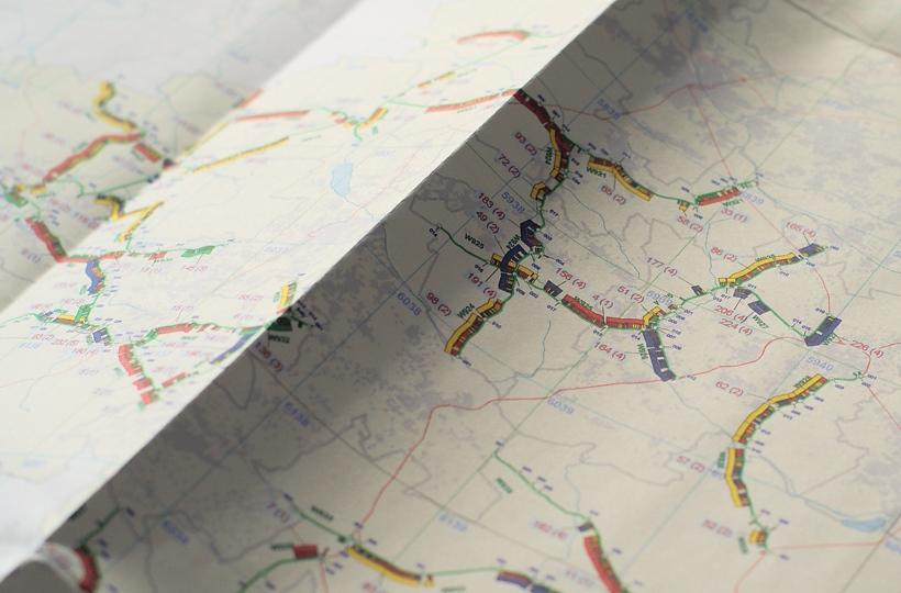 Mapa z wizualizacją programów utrzymaniowych