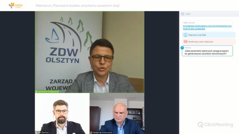 """Webinarium """"Planowanie budżetu utrzymania nawierzchni dróg"""" 10.09.2020"""