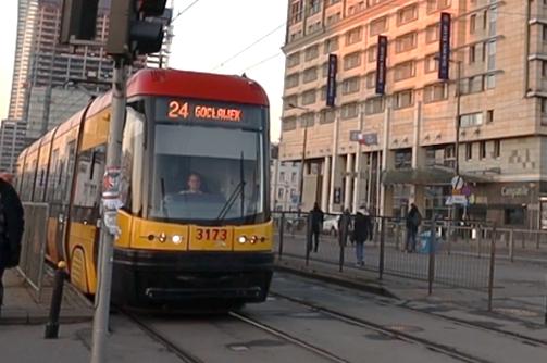 Tramwaj na ulicach Warszawy