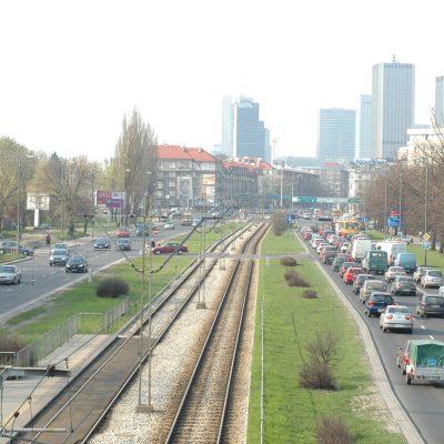 Ruch na drogach w Warszawie